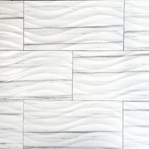 12x24 3D Century White Polished