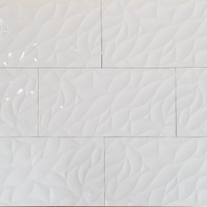 12x24 3D Leaf White Polished