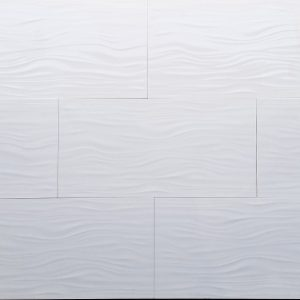 12x24 3D Muscle White Polished