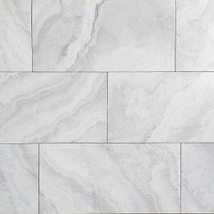 12x24 Aura White Matte Tile