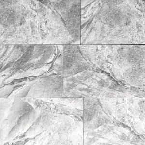 12x24 Concave Silver Rustic Matte Tile