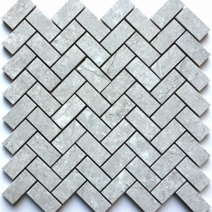 1x2 Bazalt Grey Herringbone Backsplash