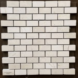 1x2 Crema Marfil Backsplash
