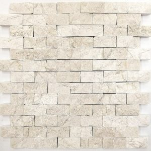1x2 Crema Marfil Split Face Backsplash