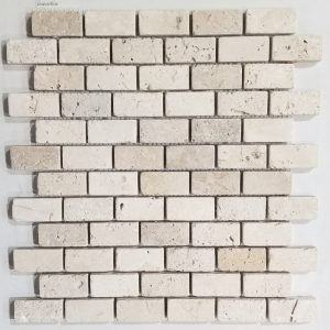 1x2 Ivory Tumbled Backsplash