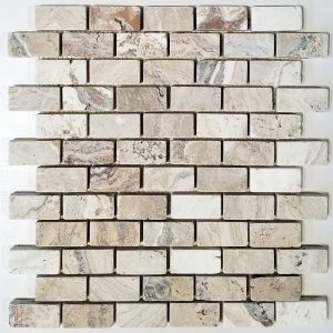 1x2 Picasso Tumbled Backsplash