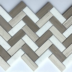 1x3 Athena Herringbone Backsplash